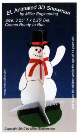 Reclame verlichting  Z 2010   3D Snowman