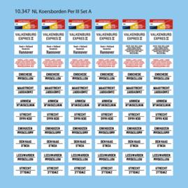 10 347 NL Koersborden periode III set A HO 1:87