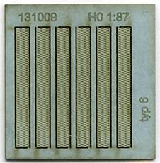131009 Roosterplaten voor kabelgoot HO 1:87