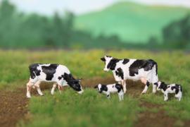 HVPS201 Holstein Zwartbont, set met 4 koeien 1:87