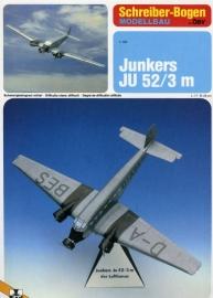 Bouwplaat SB 71434   Vliegtuig Junckers