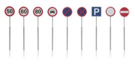 387 262 NL borden: verkeersborden (9 stuks) HO 1:87
