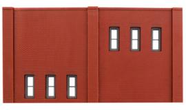 DPM 60123 set van 3 muurdelen hoog met ramen en 10 pilasters