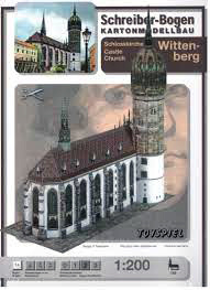 Bouwplaat SB 758 Kasteelkerk Wittenberg