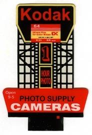 Reclamebord 44-0902   Kodak HO