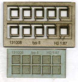 131008 Putranden met deksel voor kabelgoot vierkant HO 1:87