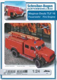 Bouwplaat SB 765   Magirus Deutz brandweerwagen