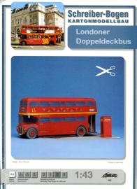 Bouwplaat SB 563   Dubbeldekker bus