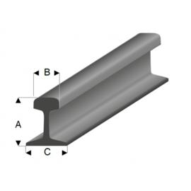 grijs (staal) railprofiel (laadgoed) HO/TT 460-51