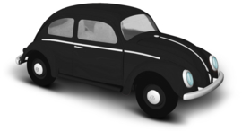BA 52902 VW Kever zwart 1:87