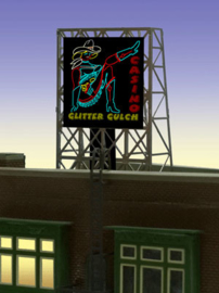 Reclamebord 33-9055 Glitter Gulch N