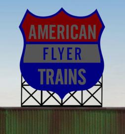 Reclamebord 44-0952   American Flyer Trains HO