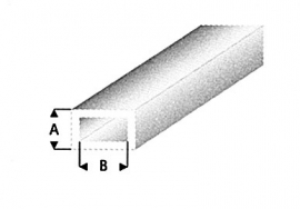 hol profiel rechthoek transparant wit 439-53