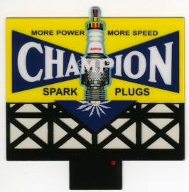 Reclamebord 5072   Champion Spark Plugs HO