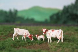HVPS 205 Maas Rijn IJssel set met 3 koeien 1:87
