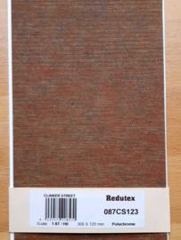 Redutex Nederlandse klinkerstraat visgraat rood gemeleerd 087 CS 123