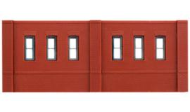 DPM 60102 set van 3 muurdelen met ramen en 10 pilasters