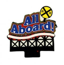 Reclamebord 44-1852 All Aboard HO