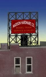 Reclamebord 33-8920 Madison Model Train N