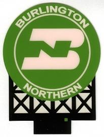 Reclamebord 44-0702   Burlington Northern HO