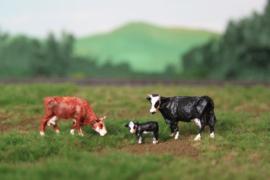 HVPS 203 Groninger Blaarkop set met 3 koeien 1:87