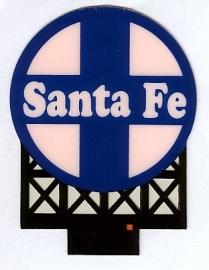 Reclamebord 44-0552   Santa Fe HO