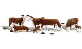 WLS A2767 Hereford koeien roodbont 1:43