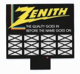 Reclamebord 44-0452   Zenith TV HO