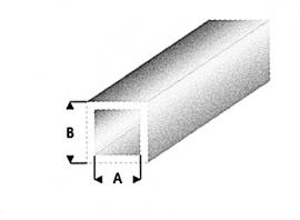 hol profiel vierkant transparant wit 431-53