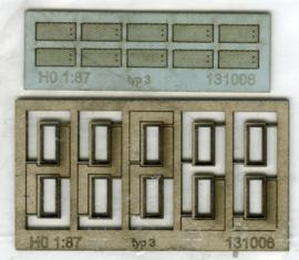 131006 Putranden met deksel voor kabelgoot rechthoekig smal HO 1:87