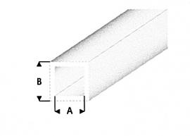 hol profiel vierkant transparant helder 430-53