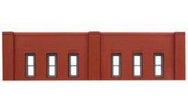 DPM 60112 set van 3 muurdelen laag met ramen en 10 pilasters