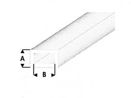 hol profiel rechthoek transparant helder 438-53