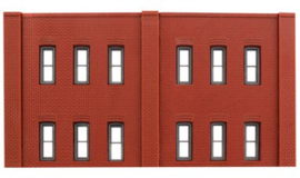 DPM 60122 set van 3 muurdelen hoog met ramen en 10 pilasters