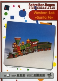 Bouwplaat SB 72614   Western Loc Santa Fe