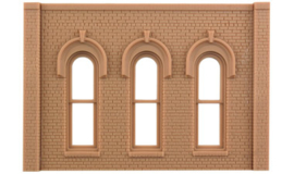 DPM 90102 set 2 muurdelen met 5 pilasters