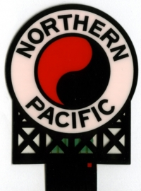 Reclamebord 1172   Northern Pacific HO