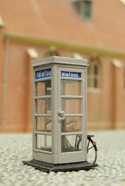 10 285 PTT telefooncel HO 1:87 kit