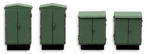 10 274 Schakelkasten(4 stuks) HO 1:87 kit