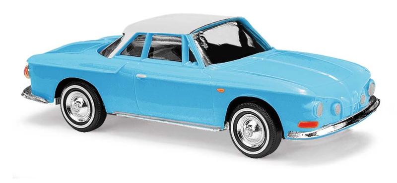 BA 45808 Karmann Ghia 1600 2-kleurig blauw 1:87