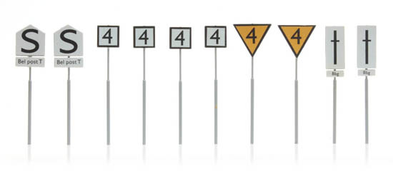 387 211 NS borden: emplacementborden (10 stuks) HO 1:87