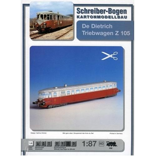 Bouwplaat SB 558   Treinstel De Dietrich
