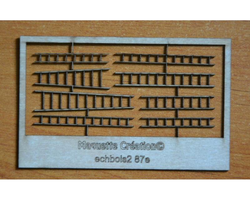 set 8 ladders HO 1:87