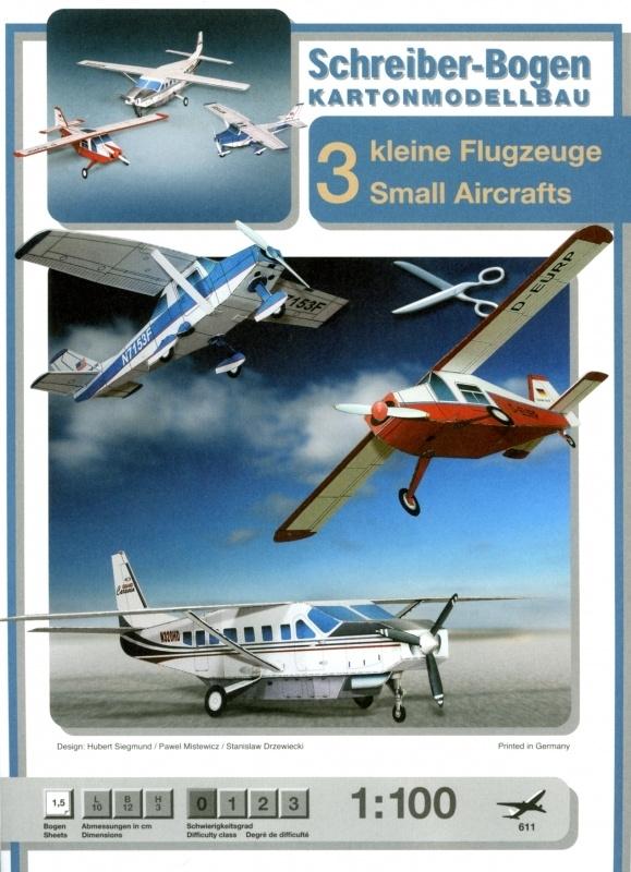 Bouwplaat SB 611   Sportvliegtuigen