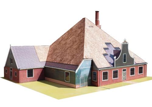 kartonnen bouwplaat stolpboerderij