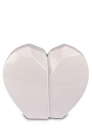 Urn hartvorm wit, 4,5L
