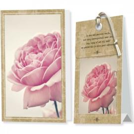 kaart met geurzakje 04 blanco roos
