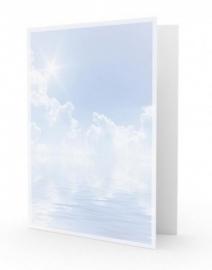 Wolkenlucht en zee - dankbetuigingkaart