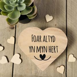 Herinneringsdoosje hart - foar altyd yn myn hert-