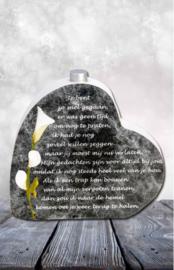In memoriam hart met mini urn: Je bent zo snel gegaan